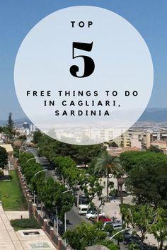 Top 5 FREE Things To Do in Cagliari, Sardinia  Europe Travel | Sardinia | Cagliari | Free things to do in Cagliari | Visiting Sardinia
