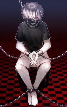 Tokyo Ghoul Kaneki Ken Mask White Hair Kaneki Badass Kaneki Chains