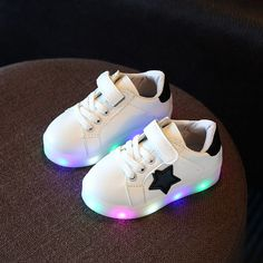 Yeafey Children Shoes With Light Chaussure Led Enfant Spring Autumn New Stars Led Girls Shoe Sports Breathable Boys Sneaker Shoe Toddler Sneakers, Toddler Shoes, Kid Shoes, Cute Shoes, Girls Shoes, Shoes Sneakers, Sneakers Fashion, Baby Sneakers, Fashion Sandals