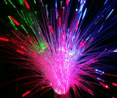 Fibre Optic multi-colour lamp, 36 cm tall, $13.50