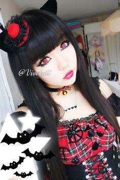 cat bat costume makeup inspo