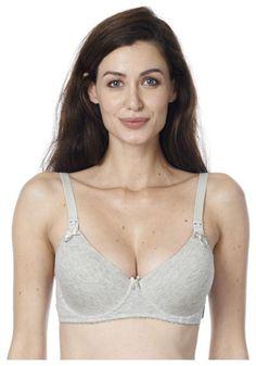 242cec2ed Noppies Cotton Grey underwire nursing bra B cup to E cup. Noppies Cotton  Grey underwire t-shirt bra