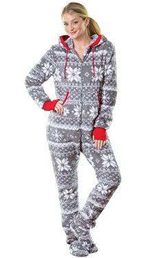 b491d23ecf Enjoy exclusive for PajamaGram Hoodie-Footie Nordic Fleece Women s Onesie  Pajama online. Pajamas WomenBest PajamasAdult ...