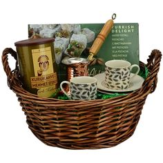 Turkish Coffee Basket with Coffee and Delight