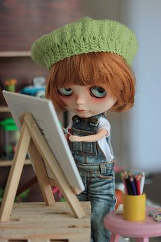 Blythe Doll An artist at work | Flickr - Photo Sharing!