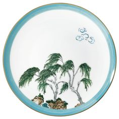 #Raynaud - Limoges #porcelain - Desert #plate from the Jardins célestes collection