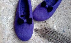Elegant felted slippers Women felt clogs Boiled от FaithFeltArt