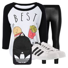 """""""Best Friends Outfit"""" by baelovesfashion ❤ liked on Polyvore featuring Zizzi, adidas, Topshop, outfit, JustFashion, polyvorefashion, besttrend2016 and 4way"""