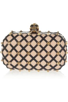 2013/SS■ALEXANDER MCQUEEN■The Skull studded lattice leather clutch