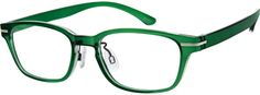 Order online, unisex green full rim acetate/plastic rectangle eyeglass frames model #297524. Visit Zenni Optical today to browse our collection of glasses and sunglasses.
