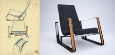 Jean Prouve Vitra Cite chair/drawing