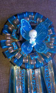 Safari themed baby shower corsage/ mum by DKEEPSAKES on Etsy, $27.00