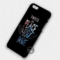 Angel Quote Castiel Nebula Supernatural - iPhone 7 6 5 SE Cases & Covers