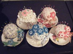 My Vintage Teacup Pincushions