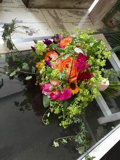 Bright Weddings, Ultra Violet, Wedding Colors, Floral Wreath, Wreaths, Bride, Flowers, Plants, Sparkler Wedding