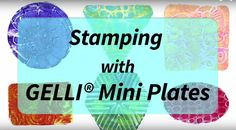 "Stamping with NEW Gelli® Mini Plates! -- We're bursting with inspiration for stamping with our NEW Mini Printing Plates! Watch this video and see how AWESOME the Mini geometric plates are!!  The Gelli® Mini printing plates are available in two different sets. One set includes a square, a circle and a triangle. The other set has a rectangle, an oval, and a hexagon. Each Mini plate fits within a 3"" area. Versatile shapes — so FUN to use!"