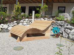 Relaxliege Wellnessliege Holzliege Gartenmöbel Entspannung Wohlfühlliege | eBay