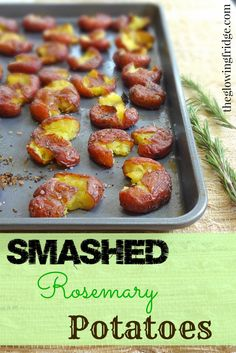 Smashed Rosemary Potatoes - a great side dish to any plant-based #vegan meal.