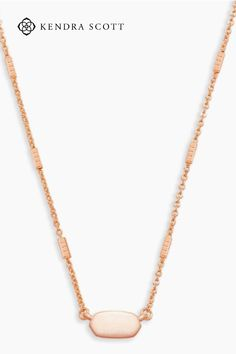 With a slender chain featuring dainty barbs and a minimalist iteration of our signature silhouette, the Fern Pendant Necklace in Rose Gold is your new everyday pendant. Add a touch of simple elegance to your ensemble with this stunning pendant necklace. Whether you layer it with a statement piece or wear it by itself, you can't go wrong with the Fern Pendant Necklace.