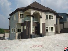 Alalubosa G. in Ibadan (Oyo State) A 4 bedroom house Top Most Expensive Property Locations in Nigeria Home Building Design, Building A House, House Design, Duplex House Plans, Traditional Homes, Private Property, 4 Bedroom House, Townhouse, My House