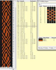 12 tarjetas, 2 colores, repite dibujo cada 24 movimientos // sed_131༺❁