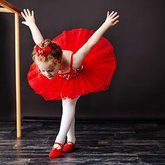 Little ballet dancer in red