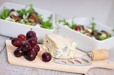 Herfstsalade blauwe kaas en druiven