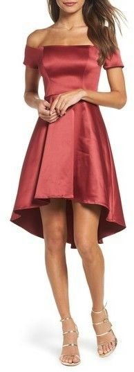 Off the shoulder satin dress - perfect for Valentine's day.  #ValentinesIdeas #CuteOutfits #PartyOutfit #WomensFashion #SpringOutfits #Valentinesdayoutfitideas #ad
