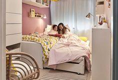 Ikea Girls Room, Kids Room, Big Girl Bedrooms, Girls Bedroom, Ideas Para Organizar, Kid Spaces, Room Interior, Home Accessories, Toddler Bed