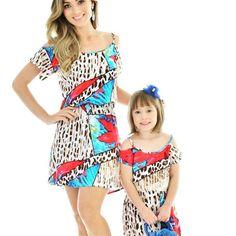 Vestido Cigana Estampado | Mãe & Filha | mariahflor