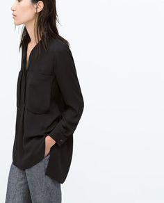 OVERSHIRT WITH GOLD BUTTON AND FRONT POCKET