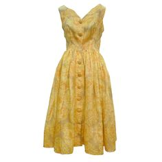 Gorgeous 50s Silk Organza Floral Print I. Magnin Dress