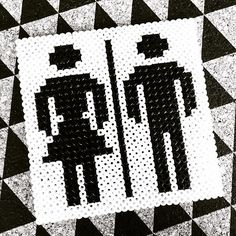 WC toilet sign hama beads by  diy_for_interior