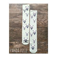 Panda Posse  Equestrian Boot Socks by Dreamers & Schemers. www.dreamersnschemers.com
