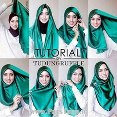I like the color of the hijab, not much the style though. Square Hijab Tutorial, Simple Hijab Tutorial, Pashmina Hijab Tutorial, Hijab Style Tutorial, Stylish Hijab, Hijab Casual, Hijab Chic, Modern Hijab Fashion, Hijab Fashion Inspiration