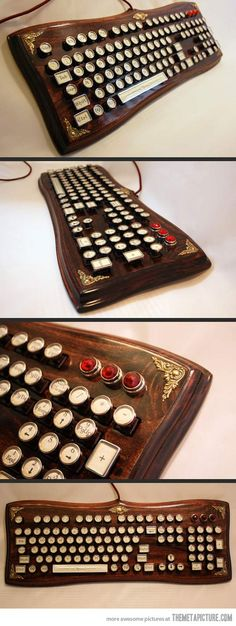 Steampunk keyboard http://amzn.to/2sppSvg