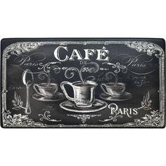Anti Fatigue Kitchen Mats, Paris Kitchen, Bistro Kitchen Decor, Cook N, Chalkboard Art, Chalkboard Designs, Coffee Design, Online Home Decor Stores, Cool Rugs