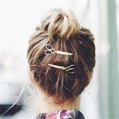 Hairdresser Scissor Hair Clips - Set of 2