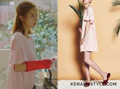 Yoon So Ah (Shin Se Kyung 신세경) wears a light pink dress with ruffled sleevesin Episode 15 of Bride of the Water God. It istheDebb x 1st LookRibbon Point Boatneck Dress inPink. Get itHERE for ₩98,210. Available from: CJ Mall–...