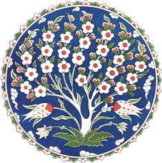 Islamic Motifs, Islamic Patterns, Tile Patterns, Pottery Painting Designs, Paint Designs, Line Art Flowers, Flower Art, Ceramic Figures, Ceramic Art