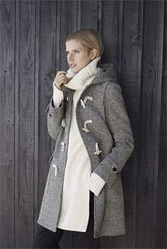 Textured Duffle Coat