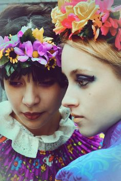 Makeup and flower crowns.