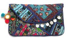 Beautiful Vintage Banjara clutch bag Indian gypsy by ROYALEJAYPORE, $39.00