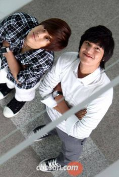 Lee Min-Ho and Kim Hyung Joong
