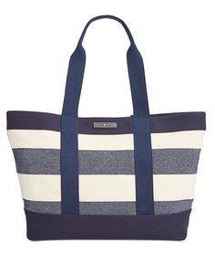 dd6013c57a Tommy Hilfiger Daphne Woven Rugby Tote & Reviews - Handbags & Accessories -  Macy's