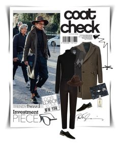 """""""Coat Check - Trendy Tweed"""" by watereverysunday ❤ liked on Polyvore featuring Piombo, Numero 00, River Island, Topman, Kenzo, Yves Saint Laurent, Fallenbrokenstreet, RetroSuperFuture, mens and men"""