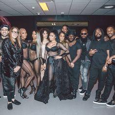 Nicki Minaj backstage at the Pinkprint Tour Amsterdam