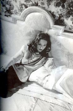 Tallulah Bankhead in her boudoir, 1940s