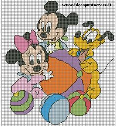 BABY MICHEY AND FRIENDS CROSS STITCH by syra1974 on DeviantArt
