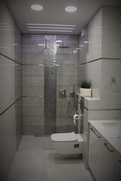 #Bathroom in shades of #grey. Simple and #elegant. #interiordesign #bathroomdesign #greybathroom